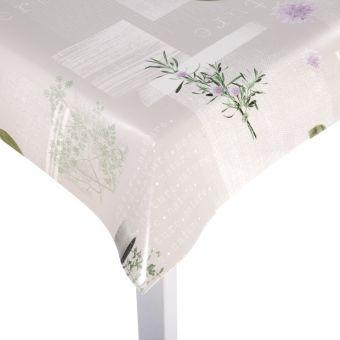 Tissu protège table imprimé plantes