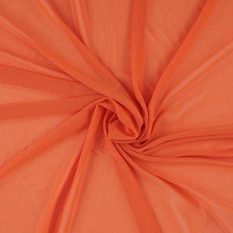 Tissu résille uni orange