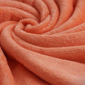 Tissu éponge bambou doudou corail