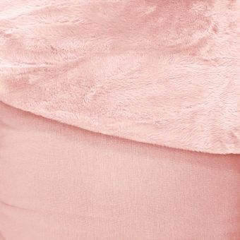 Tissu molleton Alpfleece envers polaire uni rose