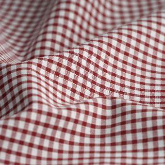 Tissu vichy coton bordeaux