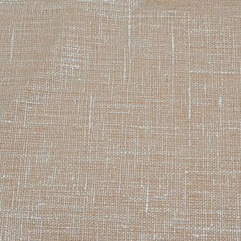 Tissu toile 100% lin neige coloris métal/argent