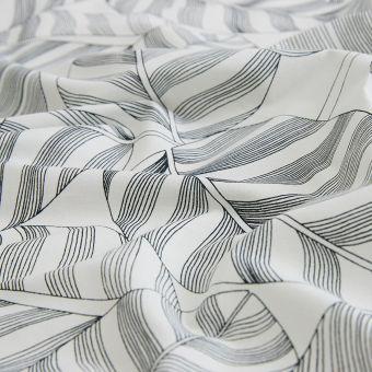 Tissu toile à drap Calathea blanc