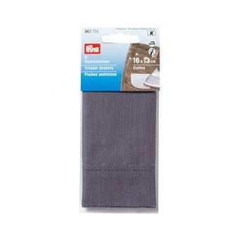 Poches pantalon demi, thermocollant gris