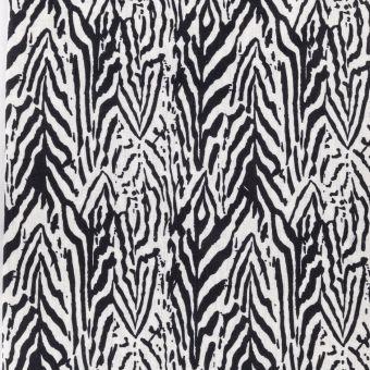 Coupon motif zebra noir et blanc