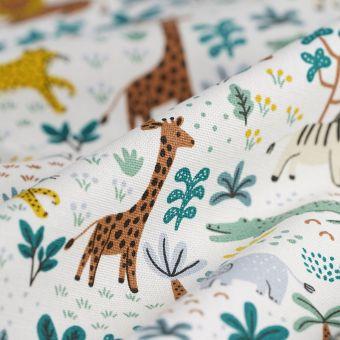 Tissu coton épais jungle