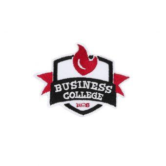 Écusson thermocollant Business college blanc et rouge