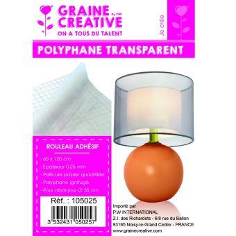 Mini rouleau polyphane adhésif transparent 60x120cm