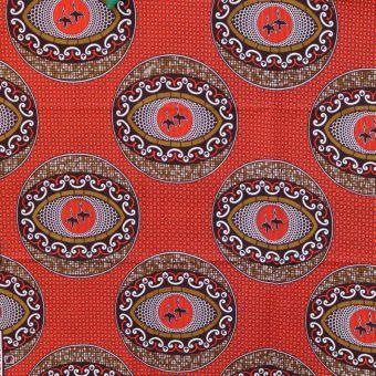 Tissu wax motifs oeil rouge