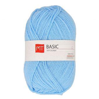 Pelote de fil à tricoter MT basic bleu ciel