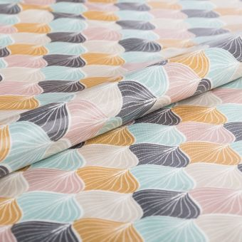 Tissu enduit PVC brillant dômes multicolores - AU Maison