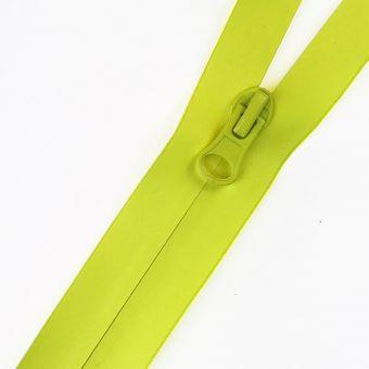 Fermeture à glissière étanche fluo jaune au mètre