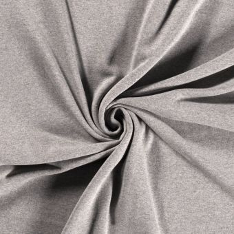 Tissu molleton sweat coton bio et recyclé gris clair