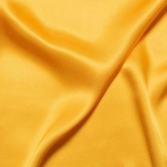 Tissu satin de soie moutarde uni fait en Italie