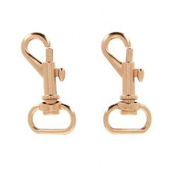 Mousquetons bronze finition anneau 15 mm
