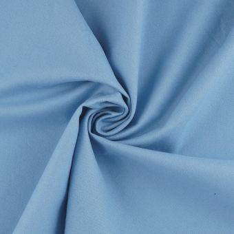 Tissu flanelle coton bio bleu
