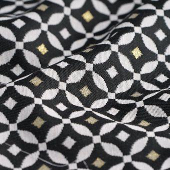Tissu jacquard Diamond noir