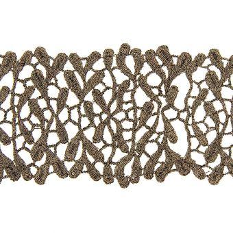 Ruban dentelle métallisée bronze 69mm