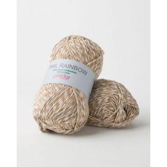 Fil à tricoter Phildar rainbow sable