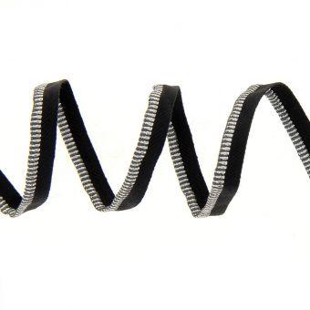 Passepoil métallisé argenté 8 mm
