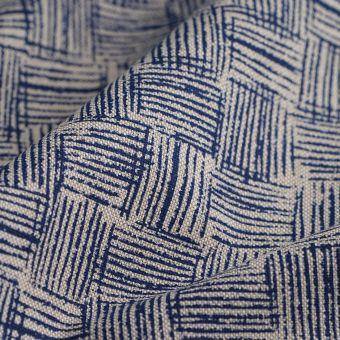Tissu coton épais esquisse bleu