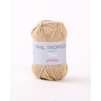Pelote de fil à tricoter Phildar Tropical taupe