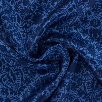 Tissu Liberty soie bleu
