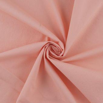Tissu toile de coton lavé rose