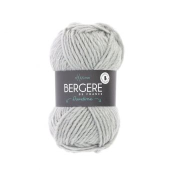 Pelote de fil à tricoter Duvetine Bergère de France gris clair
