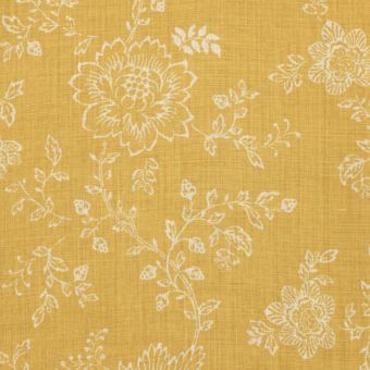 Tissu provençal lin Pivoni jaune