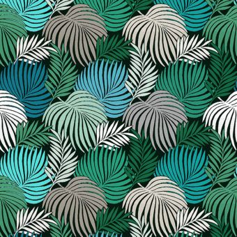 Tissu jacquard copacabana émeraude