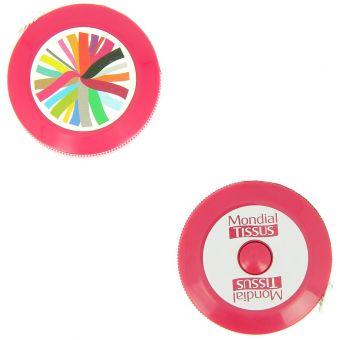 Centimètre enrouleur rose MT
