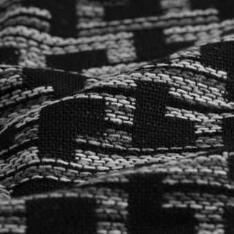 Tissu jacquard Terris gris noir
