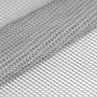 Tissu filet mesh gris clair