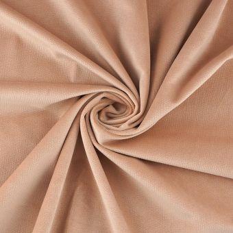 Tissu velours Decker nude