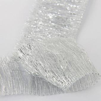 Ruban frange lamé métallisé argent 53 mm
