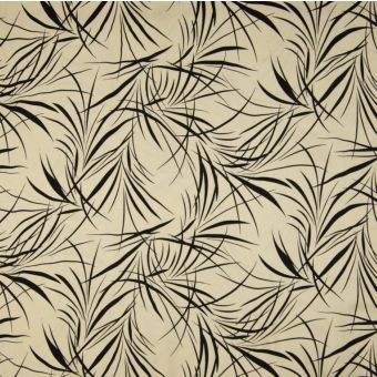 Tissu twill cupro écru à motifs feuillages