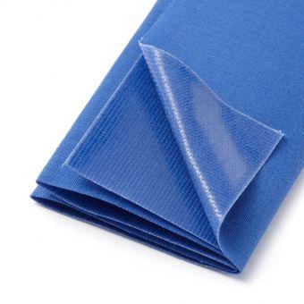 Pièce thermocollante coton bleu roy