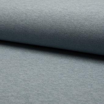 Tissu néoprène uni chiné bleu orage