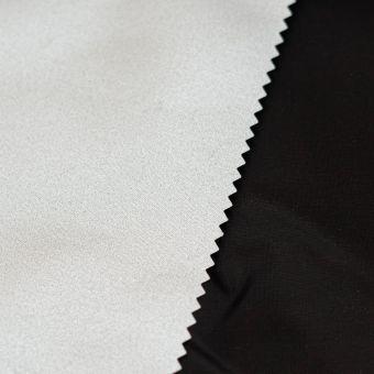 Tissu doublure thermique Sylvia envers metallisé noir