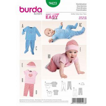 Patron Burda 9423 Kids Ensemble bébé de 1 à 12 mois