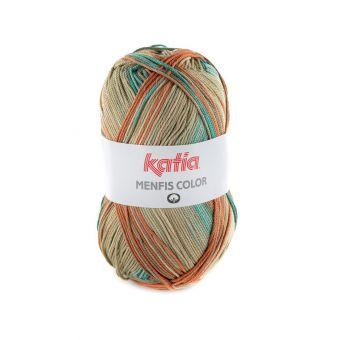Fil à tricoter Katia Menfis Color beige vert