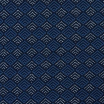 Tissu jacquard coton bio Losanges bleu - Albstoffe