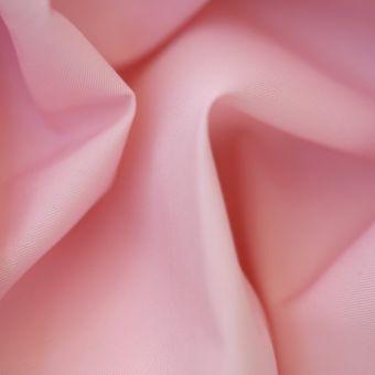 Tissu sergé uni Idéal rose