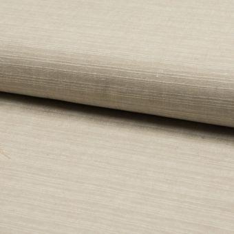 Tissu toile coton lin beige naturel à effet strié chiné écru
