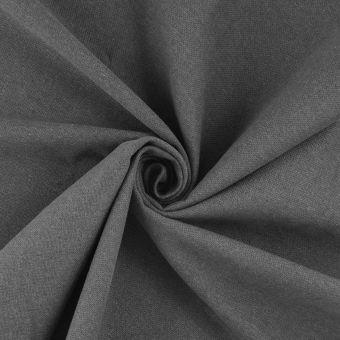 Tissu demi natté gris coton recyclé