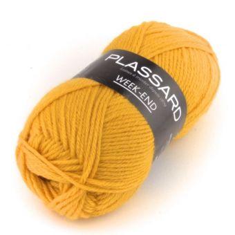Pelote de fil à tricoter week-end moutarde - Plassard