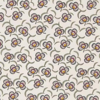 Tissu popeline de coton liberty clover cascade écru