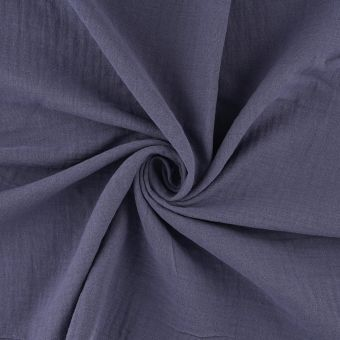 Tissu à draps double gaze bleu marine