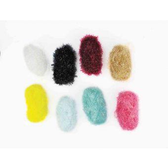 Laine abrasive 8 mini pelotes 2 crochets (éponge)